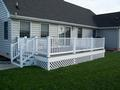 Deck with Low Maintenance Vinyl Railings
