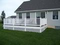 Deck with All Weather Trim Board and Lattice