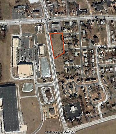 AERIAL VIEW OF SAULSBURY CROSSROADS RETAIL PROPERTY