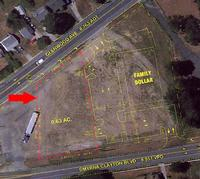 NEWBERG FAMILY DOLLAR LOT AERIAL VIEW