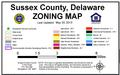 SUSSEX COUNTY ZONING MAP KEY