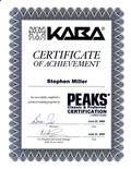 KABA Peaks Classic and Preferred Certificate