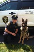 Officer Small and K9 Sampson