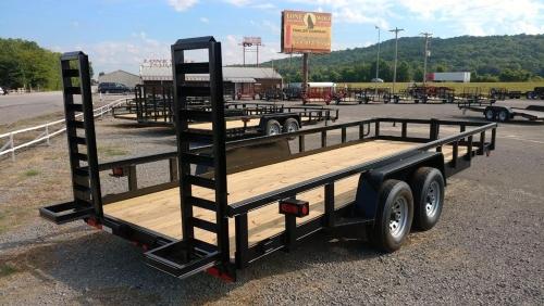 10k heavy duty rail utility trailer
