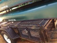 8 canoe trailer lockable storage