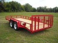 16 x 83 Tandem Axle Tube Rail Utility, Dovetail with Gate