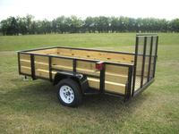6 x 10 All Purpose Utility, Wood Sides