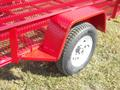 Heavy duty checker plate fenders with steps are standard.