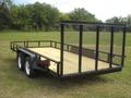 16 x 83 Tandem Axle Tube Rail Utility with Lawn Gate