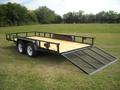 16 x 83 Tandem Axle Tube Rail Utility - Gate Down
