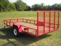 Red 6 x 12 Standard Utility Trailer