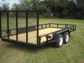 16 x 83 Tandem Axle Tube Rail with Lawn Gate