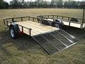 6 x 10 Economy Utility Trailer with Gate Down