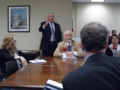 Marc S. Gerken, AMP CEO and Mayor Richard P. Homrighausen present to Senator Brown