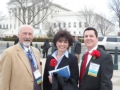 Mayor Homrighausen, Mayor Robin Laubaugh of Wadsworth and Robert Patrick of Wadsworth