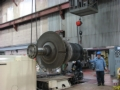 Rod Kopp Guides Steam Turbine Across the Floor Into Position to be Lowered