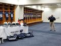 Retired Penn State Football Equipment Manager Spider Caldwell in the game day locker room