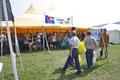 Line for the Ferguson Township Lions Club booth