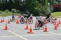 The bike safety course was reconfigured this year