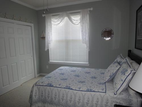 Custom Window Treatment and Wood Blinds