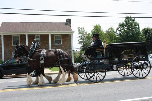 Spicer & Mullikin Funeral Home featured a horse-drawn hearse