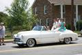 Louis Marie Bridal showcased a 1950s wedding in the parade.