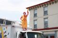 Even Ronald McDonald joined in the festivities.