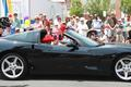 Miss Cornelia Ross, Middletown's oldest resident at 100, rode in her nephew Darren Blackston's Corvette.