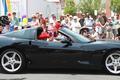 Miss Cornelia Ross, Middletown's oldest resident at 100, rode in her nephew Darren Blackston's Corvette.