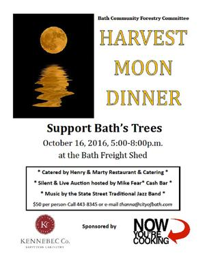 Bath Community Forestry Committee set to host Harvest Moon Dinner!