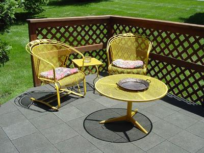 Wood deck after w/ furniture
