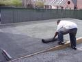 Installing Protection Mat over Stone Dust