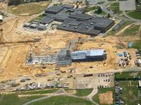Aerial view if existing school and jobsite