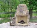 Outdoor Fireplace wrap with a veener stone