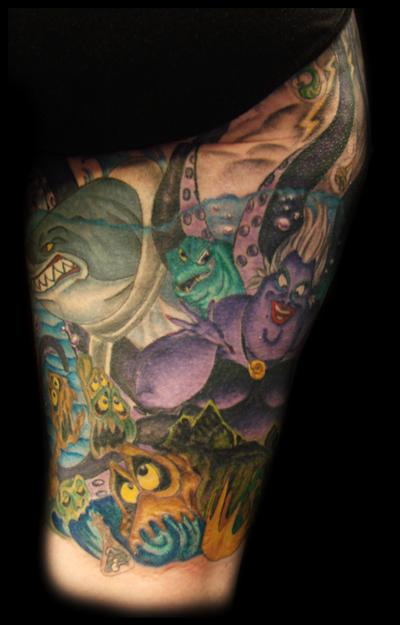 Disney tattoos little mermaid the image for Little mermaid tattoo sleeve