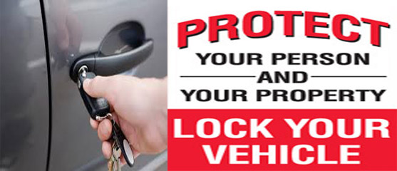 Protect your property, lock your car