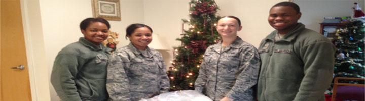 The 512th Company Grade Officers Council from DAFB coat drive