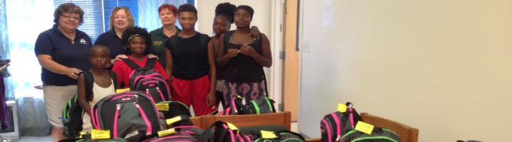 Dover Elks Lodge 1903 delivered book bags of school supplies for the children