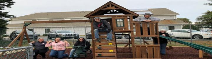 home depot building playground