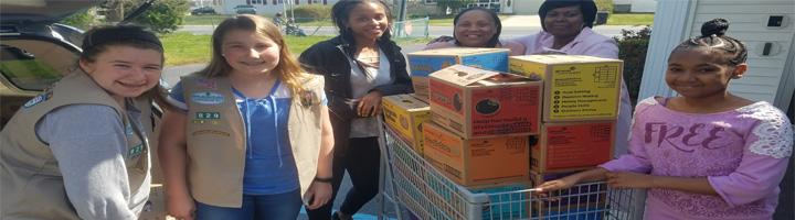 donations of cookies from the Girl Scout corporate office