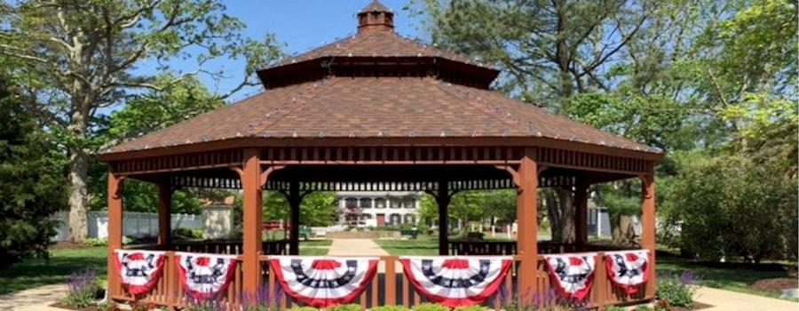 Gazebo in John West Park...