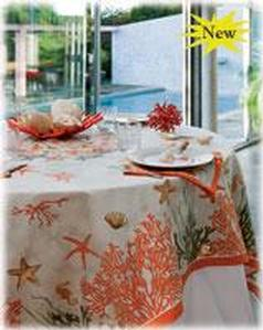 Coral Tablecloths Image