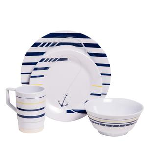 Coastal Melamine Dinnerware | Nautical non-skid Melamine