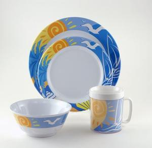 Decorated Melamine Dinnerware Image