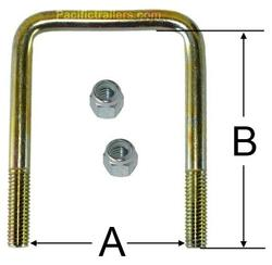 SQUARE ZINC PLATED U-BOLTS Image