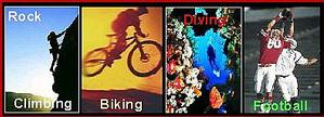Climbing, Cycling/Biking, Diving & Football Image