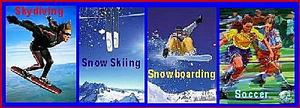 Skydiving, Snowboarding, Skiing, Soccer, Surfing Pictures Image