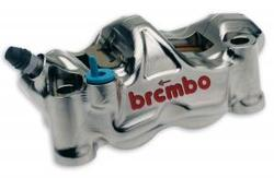 Brembo Nickel Plated Radial CNC Front Caliper Kit - Kawasaki ZX6R
