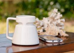 White Ceramic Non-Skid Mug (Factory Seconds)