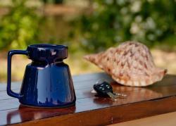 Blue Ceramic Non-Skid Mug